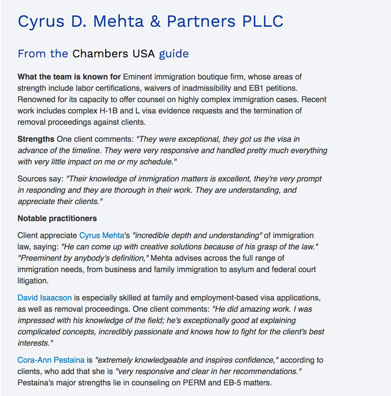 About Us | Cyrus D Mehta & Partners PLLC